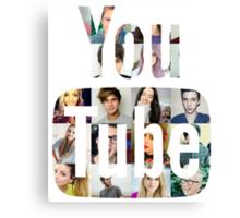 Youtubers Youtube Logo Canvas Print