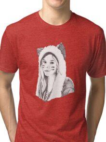 Dotwork Girl Tri-blend T-Shirt