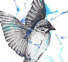 Dotwork Bird by MrAkitoto
