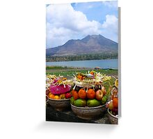 Gunung Batur Greeting Card
