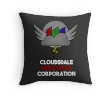 Cloudsdale Weather Corporation Throw Pillow