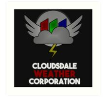 Cloudsdale Weather Corporation Art Print
