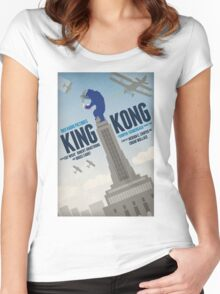 King Kong 1933 alternative movie poster Women's Fitted Scoop T-Shirt