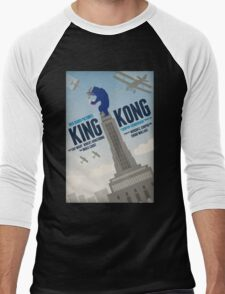 King Kong 1933 alternative movie poster Men's Baseball ¾ T-Shirt