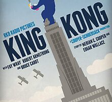 King Kong 1933 alternative movie poster by kinographics