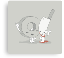 The Cutest Couple: Duct Tape & Knife Canvas Print