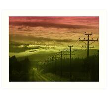 The Road to Cloud Nine Art Print