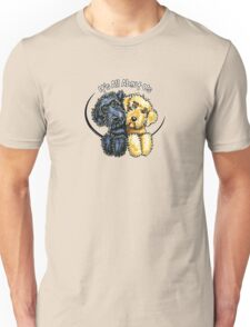 Labradoodles Black Yellow IAAU T-Shirt