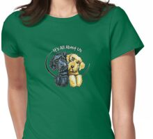 Labradoodles Black Yellow IAAU Womens Fitted T-Shirt