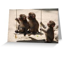 Three's A Crowd Greeting Card