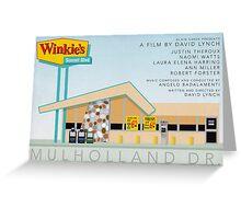 Mulholland drive Winkie's Diner alternative movie poster Greeting Card