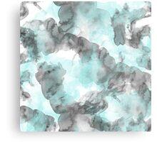 Pattern Blue Metal Print