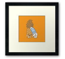 The Cutest Couple: Pineapple & Lube Framed Print