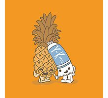 The Cutest Couple: Pineapple & Lube Photographic Print