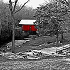 The Red Covered Bridge by Darlene Lankford Honeycutt