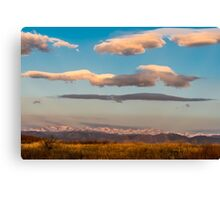 Indian Peaks Music Canvas Print