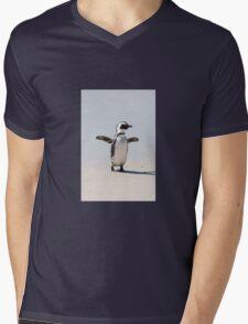 Beach Penguin Mens V-Neck T-Shirt