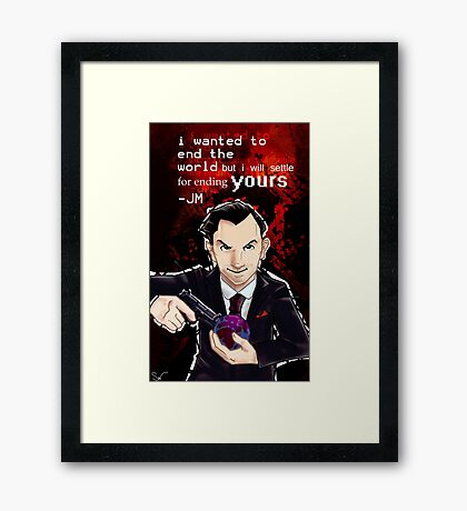 Moriarty- End your World.. Framed Print