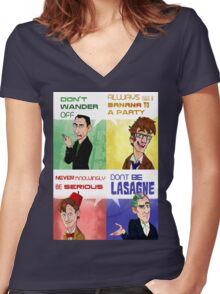 The Doctor's Rules Women's Fitted V-Neck T-Shirt