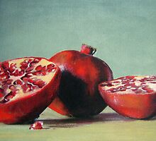 'Cut Pomegranates' by Tracey Boulton