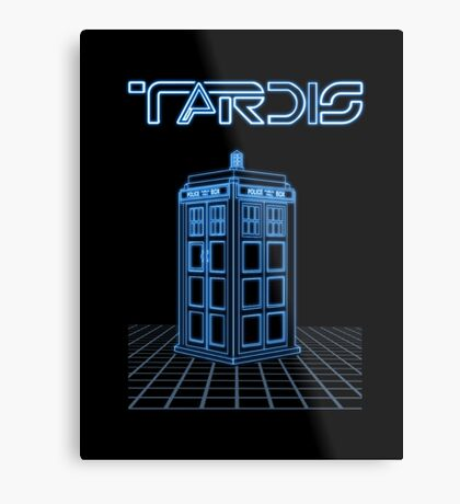 Retro Arcade Film Box  Metal Print