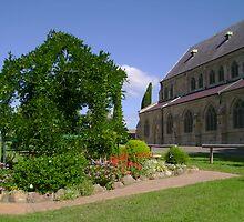 Church Garden by reflector