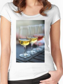 Wine Glasses Women's Fitted Scoop T-Shirt