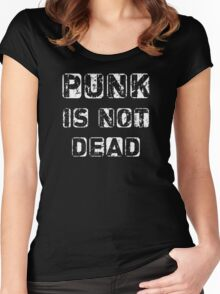 Punk is not Dead Women's Fitted Scoop T-Shirt