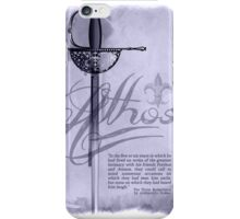 Athos with Sword and Quote iPhone Case/Skin