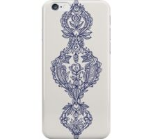 Navy Doodle on Grey iPhone Case/Skin