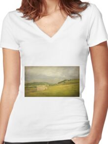Rural England Women's Fitted V-Neck T-Shirt