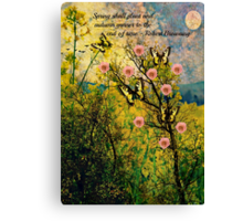 Spring Shall Plant Canvas Print