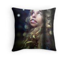 blind silence Throw Pillow