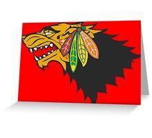 Blackhawks Direwolf Greeting Card