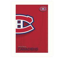Montreal Canadiens Minimalist Print Art Print