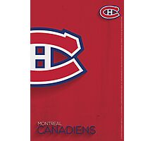 Montreal Canadiens Minimalist Print Photographic Print