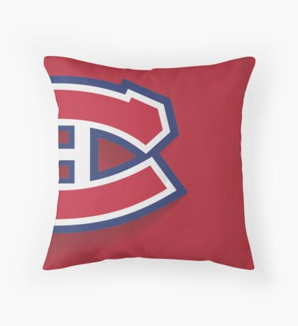 Montreal Canadiens Minimalist Print Throw Pillow