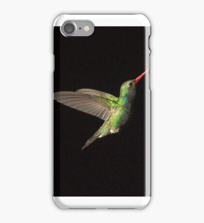 232 Magnificent Hummingbird BlackBackground iPhone Case/Skin
