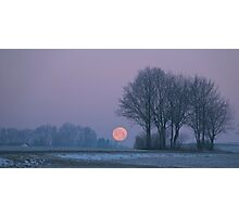 Wintermorgen (winter morning) Photographic Print