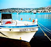 Greek Fishing Boat by KeironHillhouse