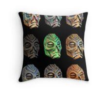 Skyrim Pixel Dragon Priest Masks Throw Pillow