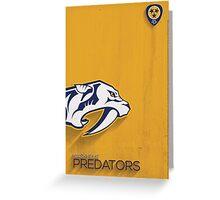 Nashville Predators Minimalist Print Greeting Card