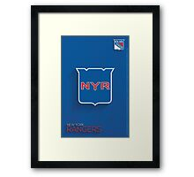 New York Rangers Minimalist Print Framed Print