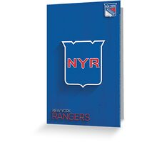 New York Rangers Minimalist Print Greeting Card
