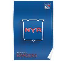 New York Rangers Minimalist Print Poster