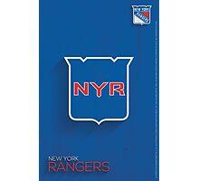 New York Rangers Minimalist Print Photographic Print
