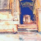 Venetian Doorway   /  Watercolor     ( My Paintings ) by Rick  Todaro