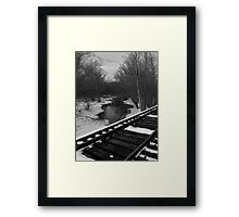 All is quiet on New Year's Day..A world in white gets underway..Nothing changes on New Year's Day Framed Print