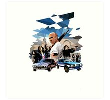 fast and furious Art Print