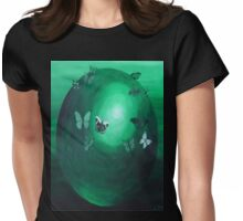 Green Butterfly Sphere T-Shirt  Womens Fitted T-Shirt